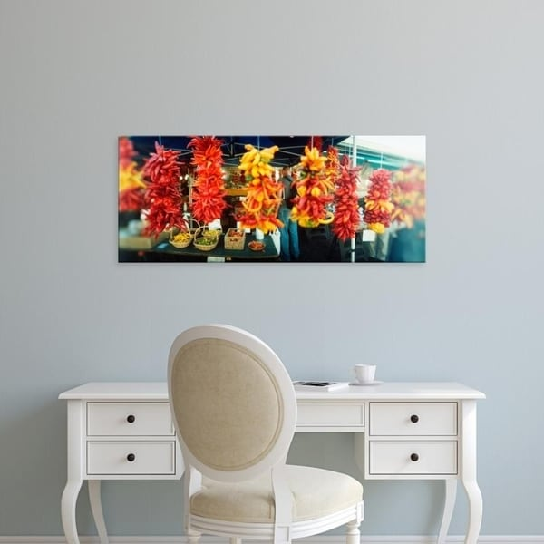 Easy Art Prints Panoramic Images's 'Strands of chili peppers, Pike Place Market, Seattle, King, Washington State' Canvas Art