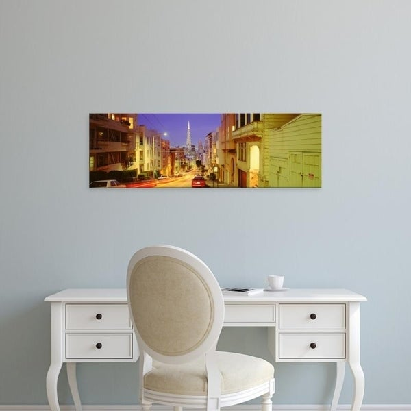 Easy Art Prints Panoramic Images's 'Evening In San Francisco, San Francisco, California, USA' Premium Canvas Art
