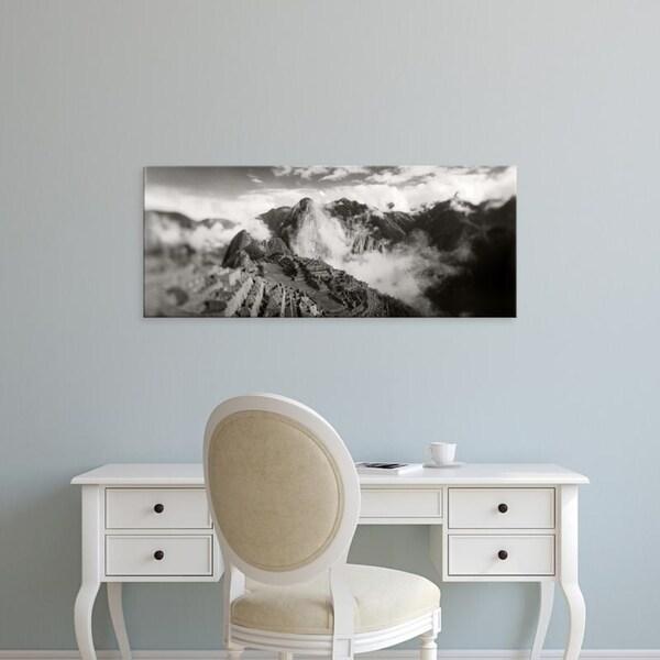 Easy Art Prints Panoramic Images's 'Ruins at archaeological site, Inca Ruins, Machu Picchu, Cusco Region, Peru' Canvas Art