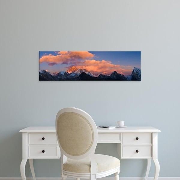 Easy Art Prints Panoramic Images's 'Mountain peaks, Mt Everest, Lhotse, Dudh Kosi, Solukhumbu, Himalayas, Nepal' Canvas Art