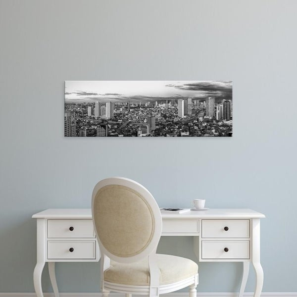 Easy Art Prints Panoramic Images's 'Elevated view of skylines in a city, Makati, Metro Manila, Manila, Philippines' Canvas Art