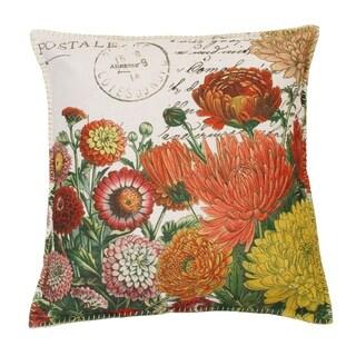 "Thro Set of 2 20"" Lorilie Julianna Franco Faux Linen with Metallic Whipstich Pillows"