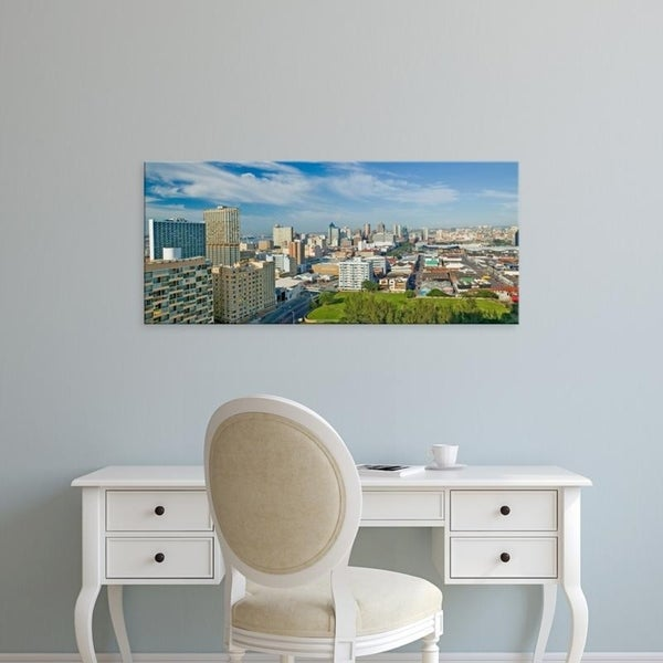 Easy Art Prints Panoramic Images's 'Panoramic aerial view of Durban, South Africa skyline' Premium Canvas Art