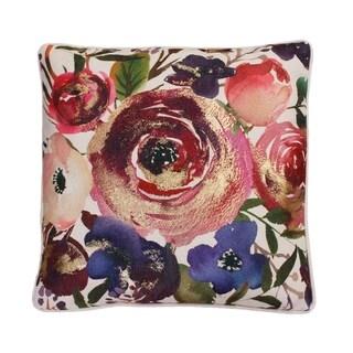 """Thro 20"""" Joinelle Floral Franco Faux Linen Pillow"""