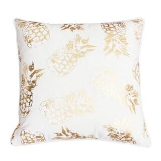 "Thro 20"" Saugus Pineapple Raised Foil Printed Pillow"