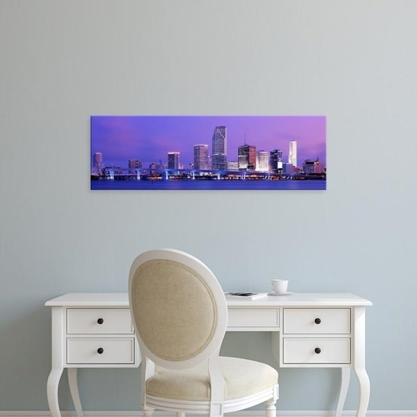 Easy Art Prints Panoramic Images's 'Miami FL' Premium Canvas Art
