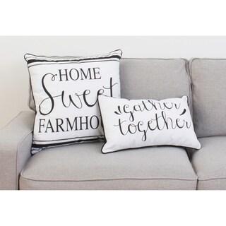 Thro 20x20 Harrison Home Sweet Farmhouse Pillow