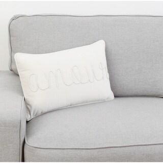 Thro 12x20 Aimee Amour Pearl Word Barbara Velvet Pillow