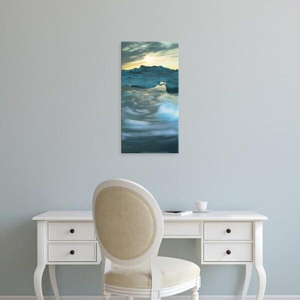 Easy Art Prints Panoramic Images's 'Greenland, Disko Bay, Icebergs in a sea' Premium Canvas Art