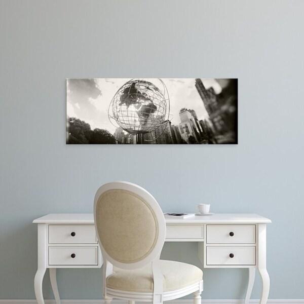Easy Art Prints Panoramic Images's 'Steel globe, Columbus Circle, Manhattan, New York City, New York State' Premium Canvas Art