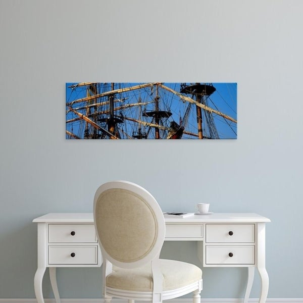 Easy Art Prints Panoramic Images's 'Rigging of a tall ship, Finistere, Brittany, France' Premium Canvas Art