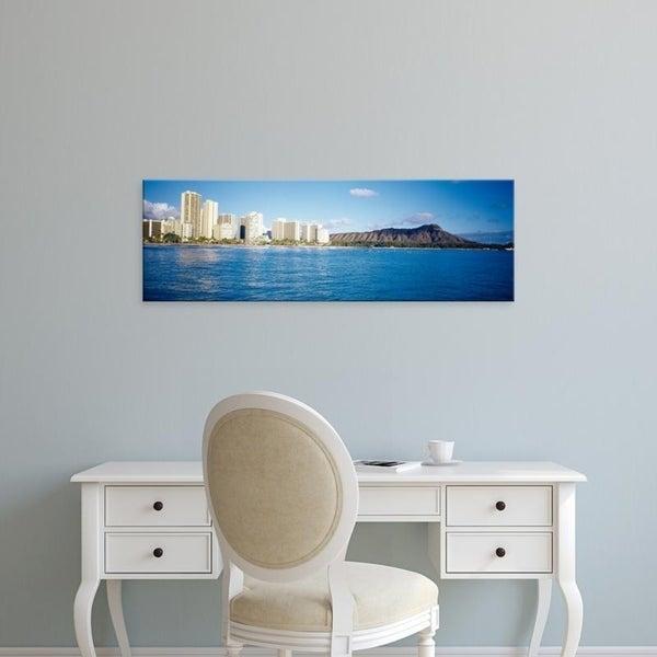 Easy Art Prints Panoramic Images's 'Volcanic mountain, Honolulu, Oahu, Hawaii' Canvas Art