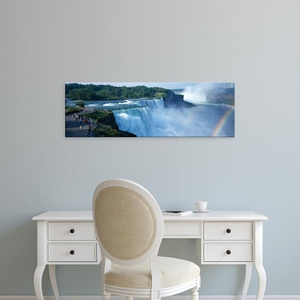 Easy Art Prints Panoramic Images's 'Niagara Falls NY' Premium Canvas Art
