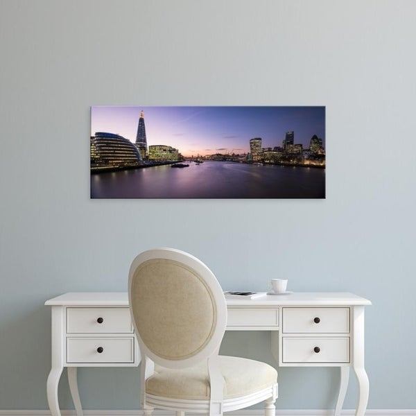 Easy Art Prints Panoramic Images's 'View of The Shard and City Hall from Tower Bridge, Southwark, London, England' Canvas Art