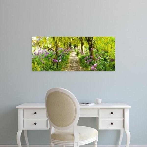Easy Art Prints Panoramic Images's 'Laburnum trees at Barnsley House Gardens, Gloucestershire, England' Premium Canvas Art