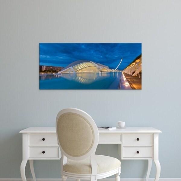 Easy Art Prints Panoramic Images's 'Museum, L'Hemisferic Planetarium, Valencia, Spain' Canvas Art