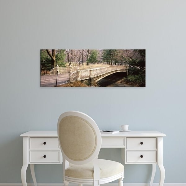 Easy Art Prints Panoramic Images's 'Arch bridge in a park, Central Park, Manhattan, New York City, New York State' Canvas Art