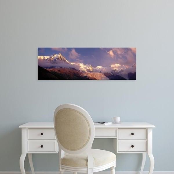 Easy Art Prints Panoramic Images's 'Haute-Savoie, Mountains, Mountain View, Alps, France' Premium Canvas Art