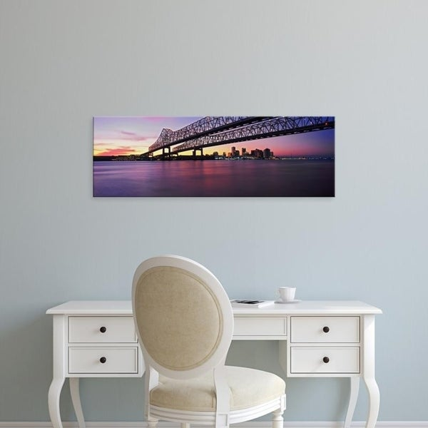 Easy Art Prints Panoramic Images's 'Crescent City Connection Bridge, River Mississippi, New Orleans, Louisiana' Canvas Art