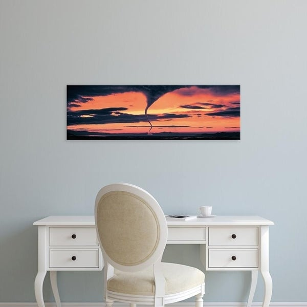 Easy Art Prints Panoramic Images's 'Tornado in the sky' Premium Canvas Art