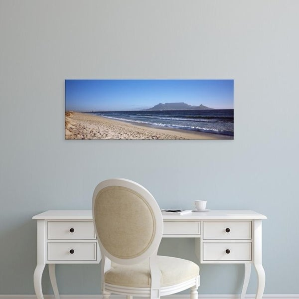 Easy Art Prints Panoramic Images's 'Table Mountain, Bloubergstrand, Cape Town, Western Cape Province, South Africa' Canvas Art