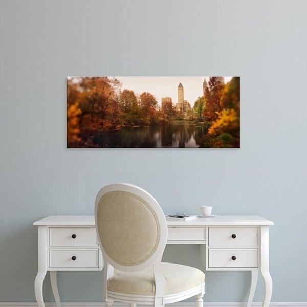 Easy Art Prints Panoramic Images's 'Park with buildings in the background, Central Park, Manhattan, New York City' Canvas Art