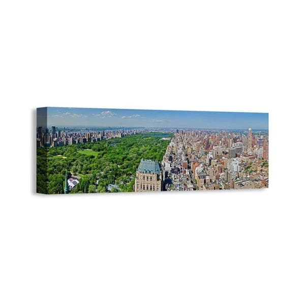 NEW YORK CENTRAL PARK MANHATTAN PANORAMIC CANVAS PRINT PICTURE WALL ART