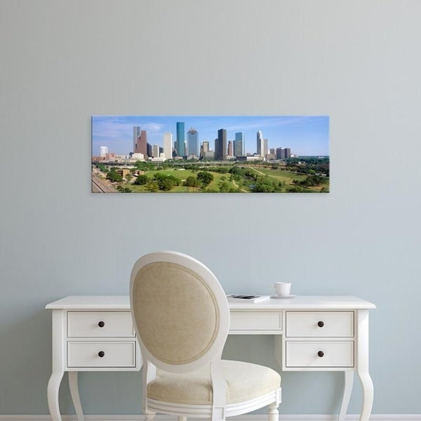 Easy Art Prints Panoramic Images's 'Houston Skyline, Memorial Park, Texas' Premium Canvas Art