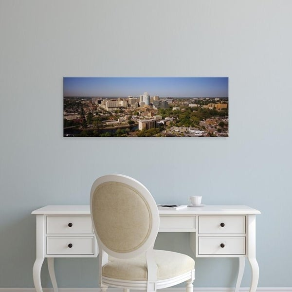 Easy Art Prints Panoramic Images's 'High angle view of a city, Wilmington, Delaware, USA' Premium Canvas Art