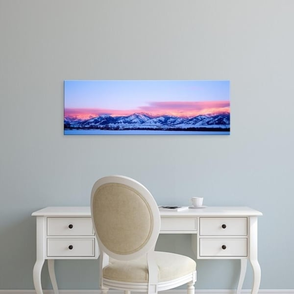 Easy Art Prints Panoramic Images's 'USA, Montana, Bozeman, Bridger Mountains, sunset' Premium Canvas Art
