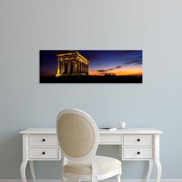 Easy Art Prints Panoramic Images's 'Monument Lit Up At Dusk, Penshaw Monument, London, England, United Kingdom' Canvas Art