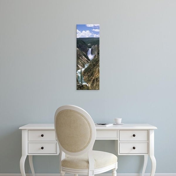 Easy Art Prints Panoramic Images's 'Artist Point, Yellowstone River, Yellowstone National Park, Wyoming' Canvas Art