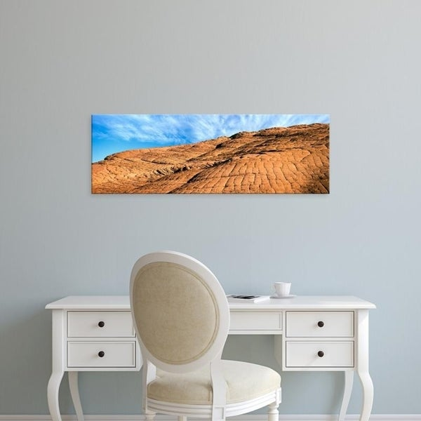 Easy Art Prints Panoramic Images's 'Petrified dune with complex layering, Snow Canyon State Park, Utah' Canvas Art