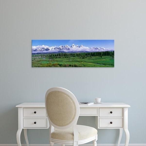 Easy Art Prints Panoramic Images's 'Teton Range,Snake River, Blacktail Ponds, Grand Teton National Park, Wyoming' Canvas Art