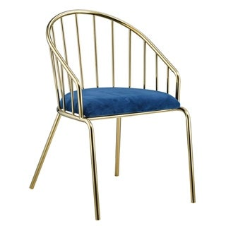 Porthos Home Cali Glam Dining Chairs - Gold Stainless Steel, Suede