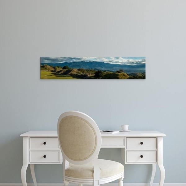 Easy Art Prints Panoramic Images's 'Elevated view of archaeological site, Monte Alban, Oaxaca, Mexico' Premium Canvas Art