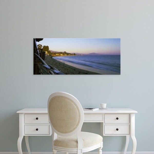 Easy Art Prints Panoramic Images's 'Butterfly Beach, Montecito, California, USA' Premium Canvas Art