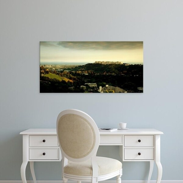 Easy Art Prints Panoramic Images's 'High angle view of a city, Santa Monica, Los Angeles County, California' Premium Canvas Art