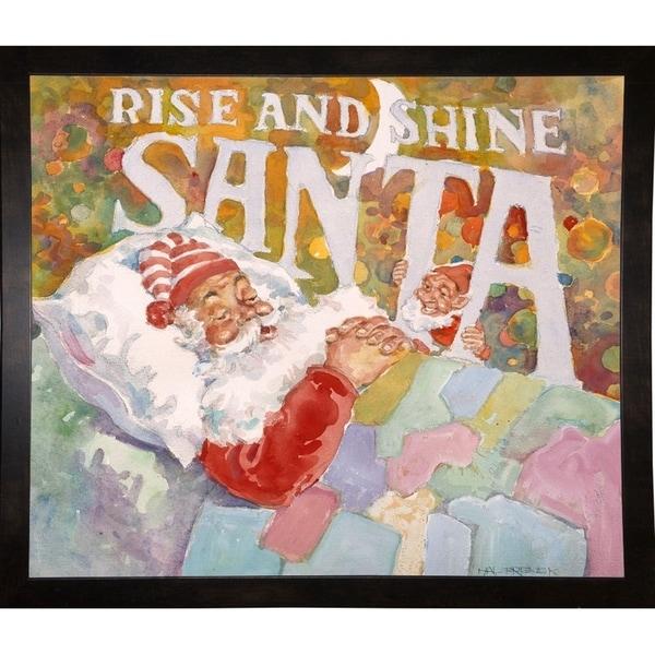 "Rise And Shine Santa-HALFRE40130 Print 28""x33"" by Hal Frenck"