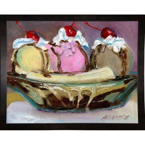 """Banana Split-HALGRO111497 Print 7.5""""x9.5"""" by Hall Groat II"""