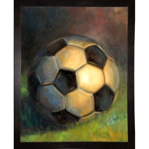 "Soccer Ball-HALGRO111544 Print 18""x14.5"" by Hall Groat II"