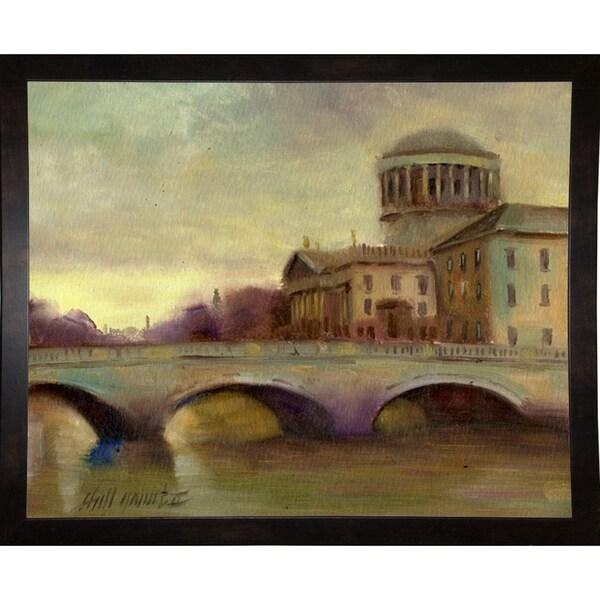 "Liffey River, Ireland-HALGRO111622 Print 8""x9.75"" by Hall Groat II"