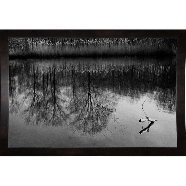 "Reflection And Branch-HARLAN70317 Print 17""x26"" by Harold Silverman - Landscapes"