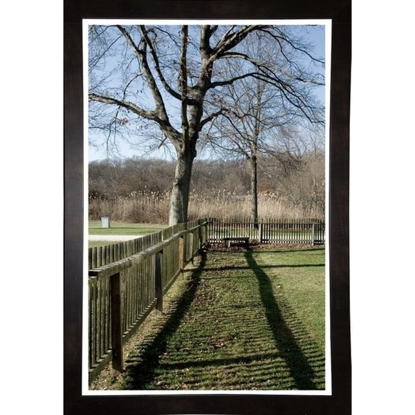 """Backyard Fence And Tree-HARLAN90062 Print 20""""x13.25"""" by Harold Silverman - Landscapes"""