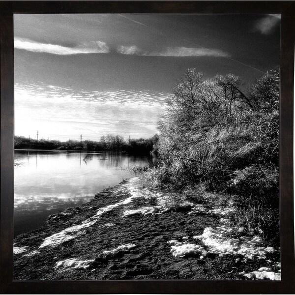 "Edge Of The Lake-HARLAN74272 Print 20""x20"" by Harold Silverman - Landscapes"