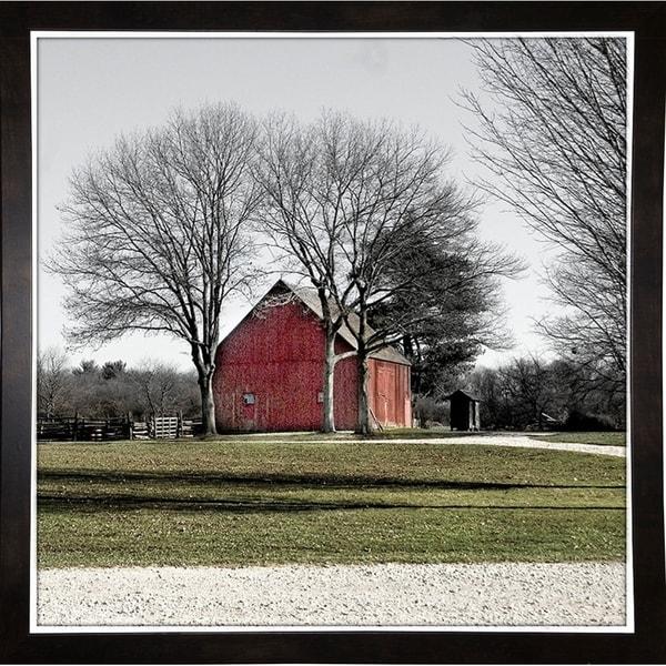 """Country Barn Circa 1865-HARLAN90253 Print 18""""x18"""" by Harold Silverman - Landscapes"""