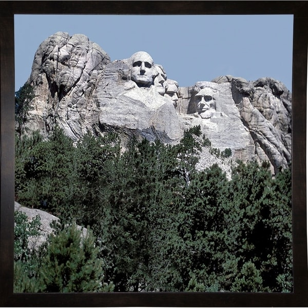 "Mt. Rushmore-HARLAN74762 Print 11""x11"" by Harold Silverman - Landscapes"
