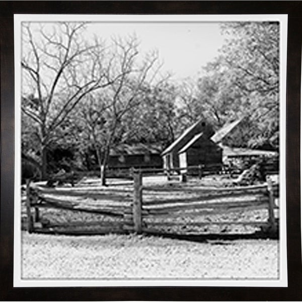 """The Barnyard Group-HARTRE97762 Print 20""""x20"""" by Harold Silverman - Trees & Old Fences"""