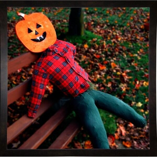 """Pumpkin Head-HARMSC53720 Print 12""""x12"""" by Harold Silverman - Msc."""