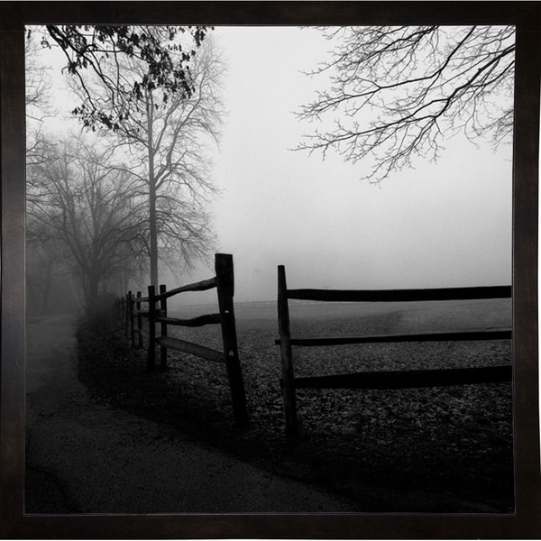 """Along The Walkway-HARTRE67473 Print 16""""x16"""" by Harold Silverman - Trees & Old Fences"""